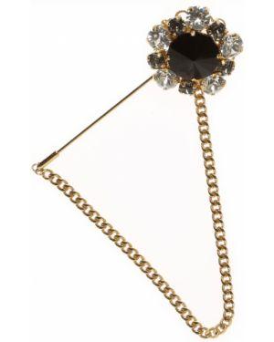 Złota broszka - czarna Dolce And Gabbana