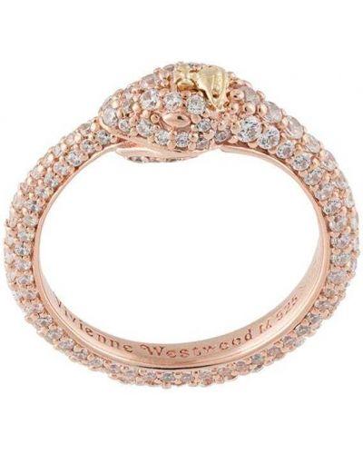 Różowy złoty pierścionek pozłacany Vivienne Westwood