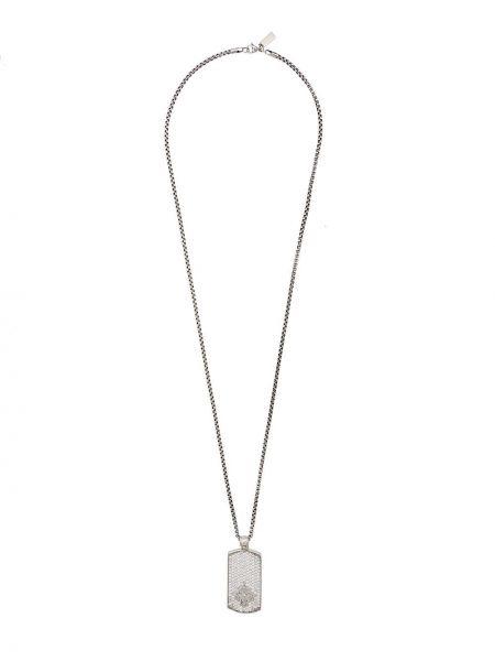 Naszyjnik ze srebra szary Nialaya Jewelry