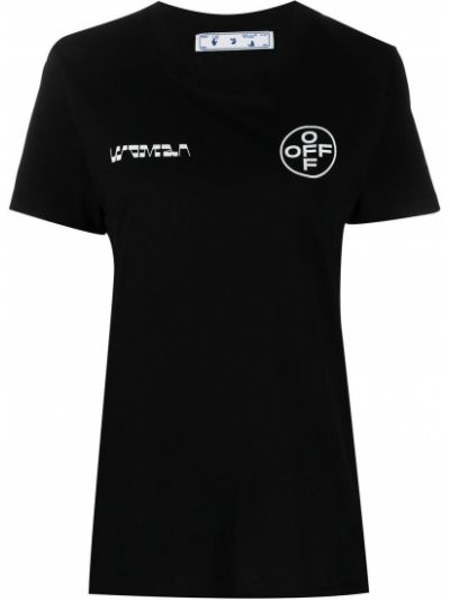 Bawełna czarny koszula krótkie rękawy Off-white