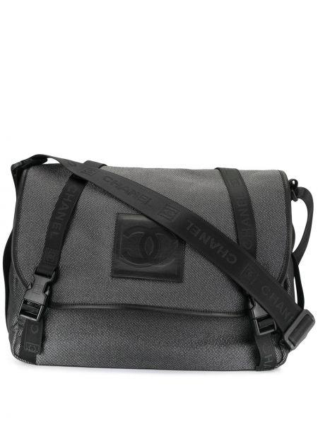 Skórzana torebka czarna z płótna Chanel Pre-owned