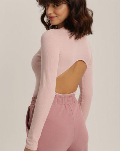 Różowy body materiałowy Renee