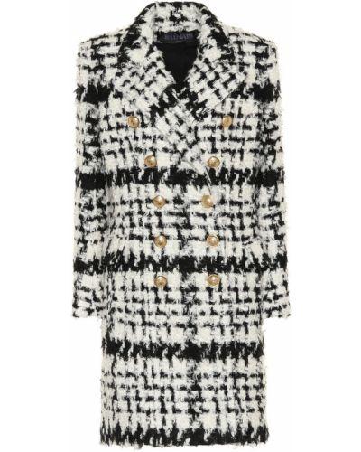 Шерстяное белое пальто Balmain