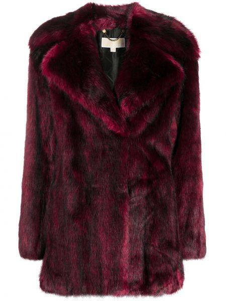 Красное длинное пальто с воротником с карманами Michael Michael Kors
