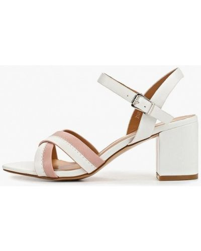 Босоножки белые на каблуке Style Shoes
