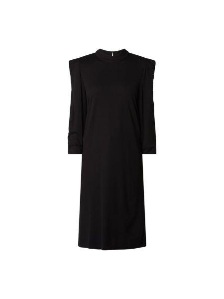 Sukienka ze stójką - czarna Saint Tropez