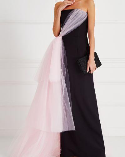 Вечернее платье с драпировкой - черное Christian Siriano