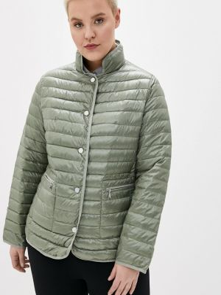 Теплая зеленая утепленная куртка Malinardi