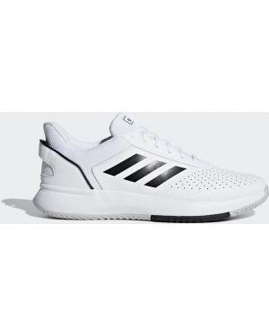 Спортивные теннисные черные кроссовки сетчатые Adidas