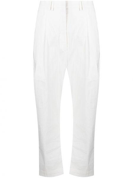Хлопковые белые брюки с карманами Christian Wijnants