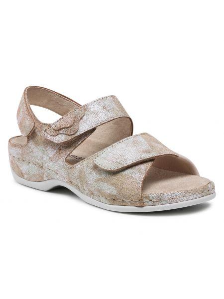 Beżowe sandały zamszowe Berkemann