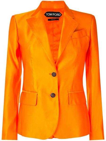 Шелковый однобортный пиджак с карманами Tom Ford