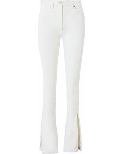 Белые джинсы стрейч с манжетами Blumarine