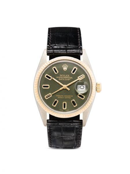 Зеленые кожаные часы Lizzie Mandler Fine Jewelry