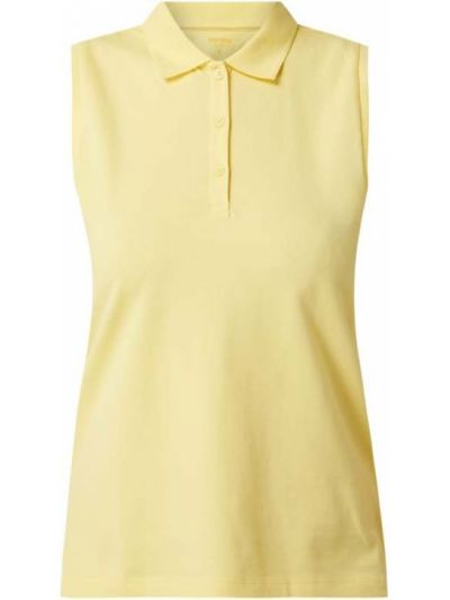T-shirt bawełniana - żółta Montego