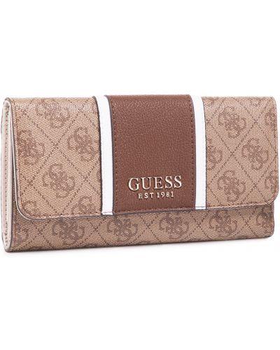 Brązowy portfel przeoczenie Guess