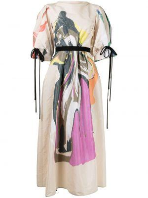 Beżowa sukienka długa Roksanda