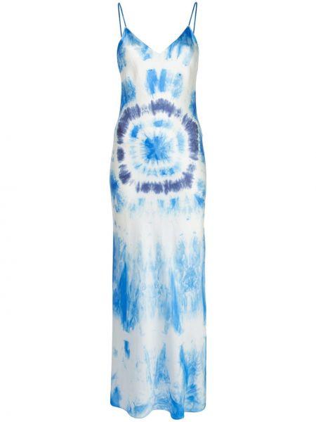 Niebieska sukienka z jedwabiu z printem Dannijo