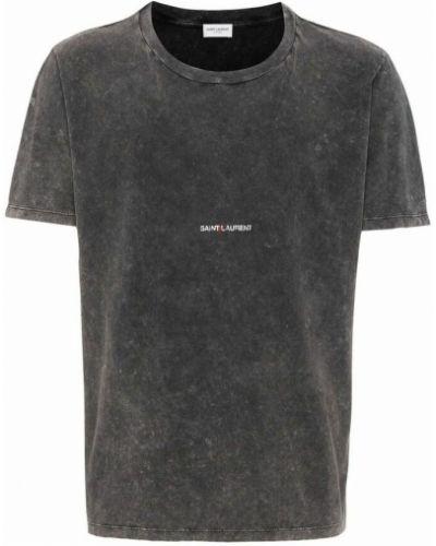 Szara t-shirt Saint Laurent
