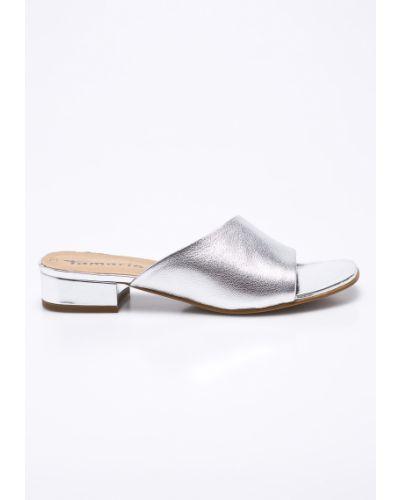 Сандалии на каблуке текстильные Tamaris