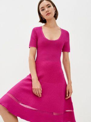 Розовое платье осеннее French Connection