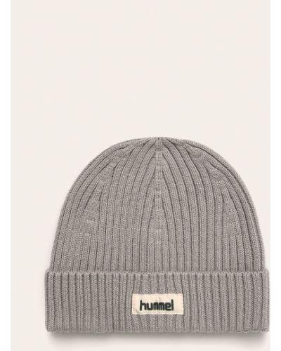 Szara czapka bawełniana Hummel