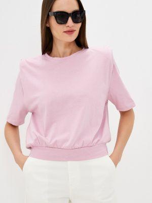 Фиолетовая футболка с короткими рукавами Rinascimento