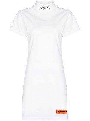 Платье мини короткое - белое Heron Preston