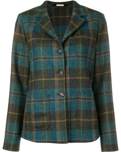 Пиджак в клетку с карманами Massimo Alba