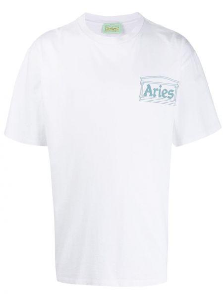 Koszula krótkie z krótkim rękawem z nadrukiem z logo Aries