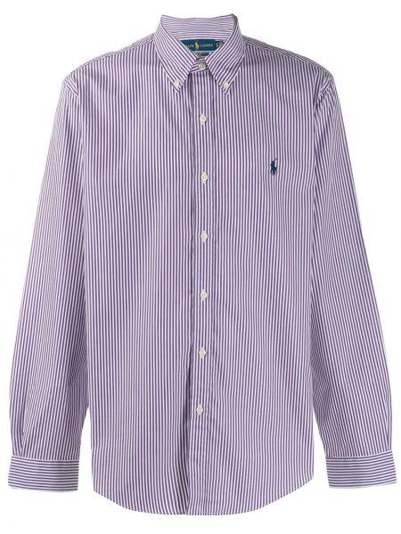 Koszula z długim rękawem klasyczny karmazynowy Ralph Lauren