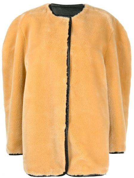 Желтое пальто круглое с подкладкой Philosophy Di Lorenzo Serafini