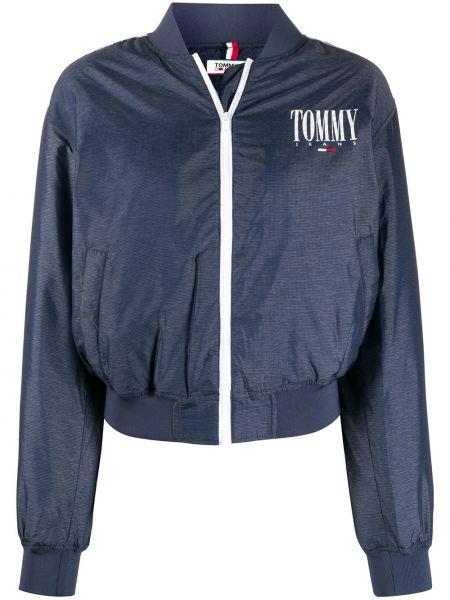 Синие джинсы круглые с вырезом на молнии Tommy Jeans