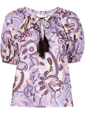 Блузка с принтом - фиолетовая Alc
