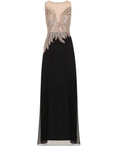 Вечернее платье миди приталенное с бисером Basix Black Label