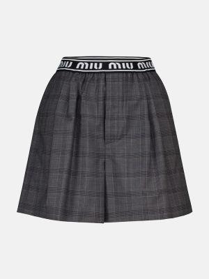 Шерстяные шорты Miu Miu