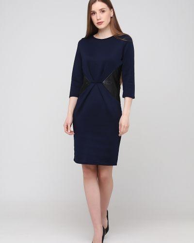 Платье свободного кроя - синее Niktan