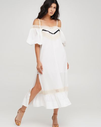 Белое платье с подкладкой Anna Yakovenko