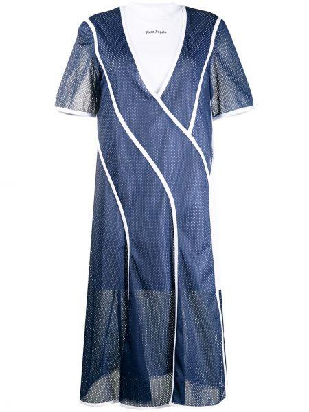 Платье мини миди в рубчик Palm Angels