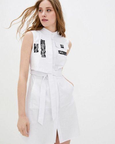 Белое платье-рубашка Ricamare