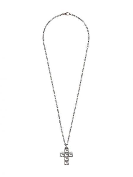 Naszyjnik ze srebra z wisiorkami Gucci