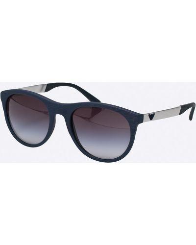 Солнцезащитные очки стеклянные темно-синий Emporio Armani