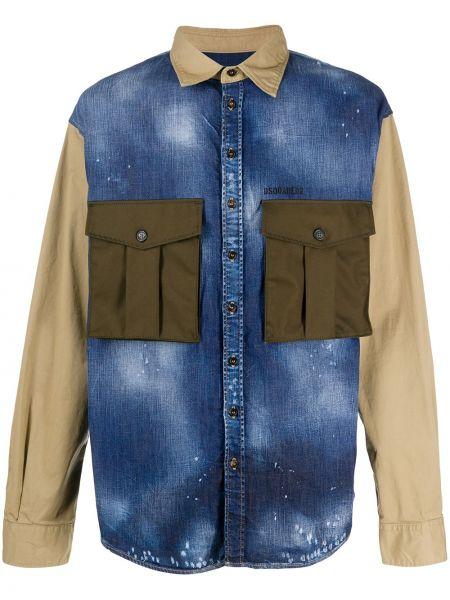 Koszula z długim rękawem klasyczna wojskowy Dsquared2