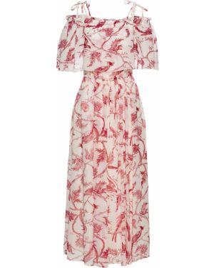 Летнее платье с цветочным принтом с вырезом Bonprix