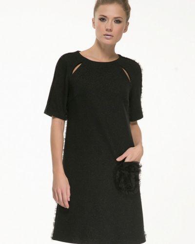 Платье мини осеннее черное Yulia'sway