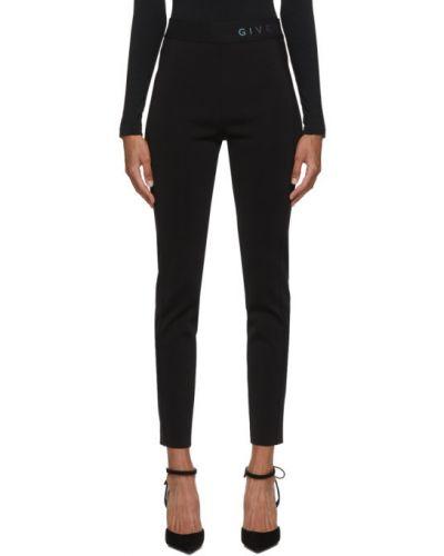 Czarny legginsy rozciągać z wiskozy Givenchy