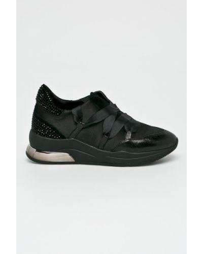 Кроссовки на платформе черные текстильные Liu Jo