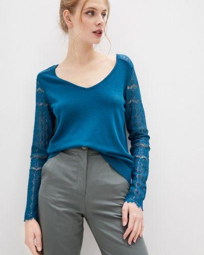 Бирюзовый пуловер Naf Naf