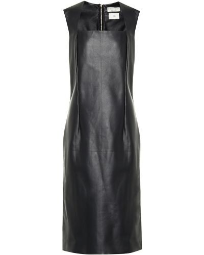 Платье миди классическое - черное Bottega Veneta