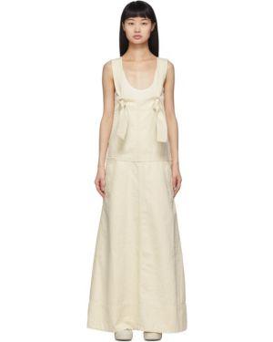 Джинсовое платье макси на пуговицах Jil Sander